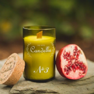 Candella - No 3 # Pomegranate Candle